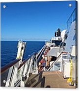Caribbean Cruise - On Board Ship - 121262 Acrylic Print