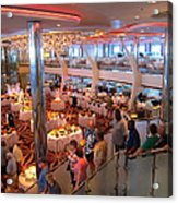 Caribbean Cruise - On Board Ship - 121271 Acrylic Print