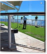Caribbean Cruise - On Board Ship - 121284 Acrylic Print