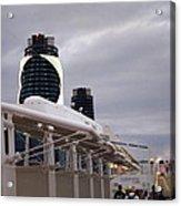 Caribbean Cruise - On Board Ship - 121299 Acrylic Print