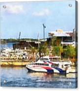 Caribbean - Dock At King's Wharf Bermuda Acrylic Print