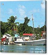 Caribbean - Docked Boats At Antigua Acrylic Print