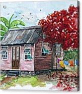 Caribbean House Acrylic Print