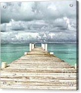 Caribbean Landscape - Isolated Jetty - Bahamas Acrylic Print