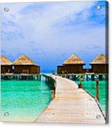 Caribbean Sea Acrylic Print by Boon Mee