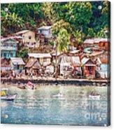 Caribbean Village Acrylic Print