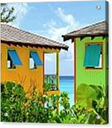 Caribbean Village Acrylic Print by Randall Weidner
