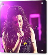 Carly On Stage Acrylic Print