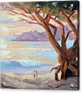 Carmel Beach Winter Sunset Acrylic Print