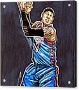 Carmelo Anthony Acrylic Print by Dave Olsen