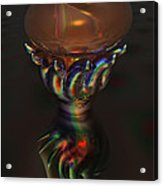 Carnival Glass Bulb Sprouter  Acrylic Print
