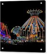 Carnival Rides At Night 04 Acrylic Print