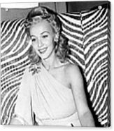 Carole Landis, At El Morocco, Ca. Early Acrylic Print