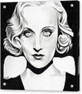 Carole Lombard Acrylic Print