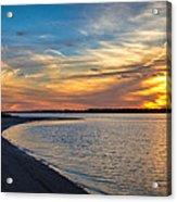 Carolina Beach River Sunset II Acrylic Print