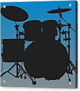 Carolina Panthers Drum Set Acrylic Print