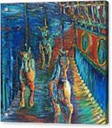 Carousel At Night Acrylic Print