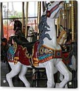 Carousel At Santa Cruz Beach Boardwalk California 5d23634 Acrylic Print by Wingsdomain Art and Photography
