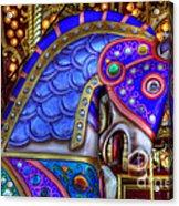 Carousel Beauty Blue Charger Acrylic Print