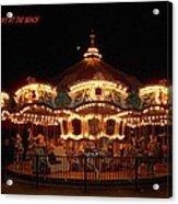 Carousel - Broadway At The Beach - Myrtle Beach Sc Acrylic Print