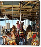 Carousel Brooklyn Bridge Park Acrylic Print