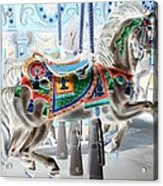 Carousel Horse In Negative Colors Acrylic Print