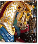 Colorful Carousel Merry-go-round Horse Acrylic Print
