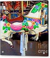 Carousel Horse With Flower Drape Acrylic Print