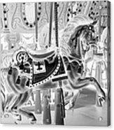 Carousel In Negative 3 Acrylic Print