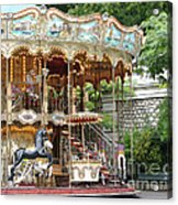 Carousel In Paris Acrylic Print
