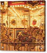 Carousel Night Lights Acrylic Print