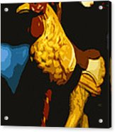 Carousel Rooster Acrylic Print