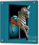 Carousel Zebra Acrylic Print