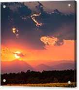 Carpathian Sunset Acrylic Print