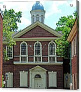 Carpenters Hall In Philadephia Acrylic Print