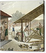 Carpentry Workshop In Kupang, Timor Acrylic Print