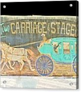 Carriage And Stagecoach Color Invert Acrylic Print