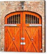 Carriage House Doors Acrylic Print