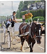 Carriage Ride Down River Road Acrylic Print