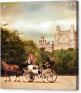 Carriage Ride In Central Park Acrylic Print