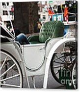 Carriage Ride In Central Park Acrylic Print by John Rizzuto