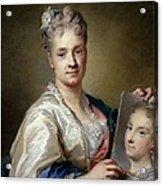 Carriera Rosalba, Self-portrait, 1715 Acrylic Print