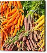 Carrots At The Market Acrylic Print