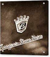 Carrozzeria Boano Emblem Acrylic Print