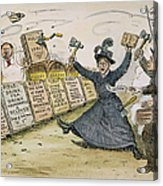 Carry Nation Cartoon, 1901 Acrylic Print