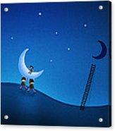 Carry The Moon Acrylic Print