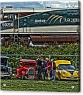 Cars And Trains Acrylic Print