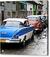 Cars In A Line Acrylic Print