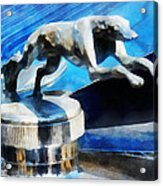 Cars - Lincoln Greyhound Hood Ornament Acrylic Print