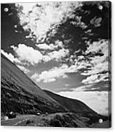cars on the road around the Iveragh Peninsula Ring of Kerry Acrylic Print